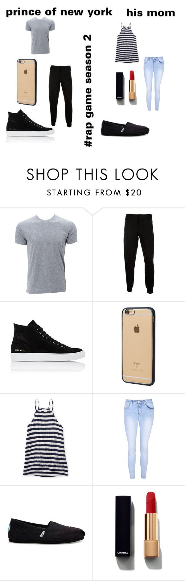"""""""Prince of new york #the rap game season 2"""" by royalty-fashion-love-gymnastics ❤ liked on Polyvore featuring McQ by Alexander McQueen, Common Projects, Incase, Aéropostale, Glamorous, TOMS and Chanel"""