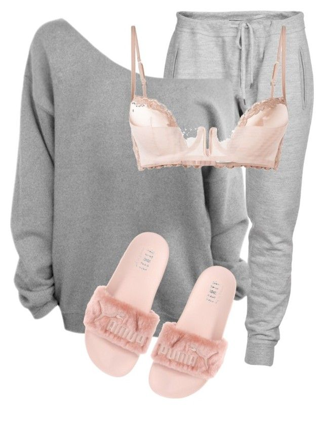 Untitled #3539 by xirix on Polyvore featuring polyvore, fashion, style, Dsquared2, La Perla, Puma and clothing