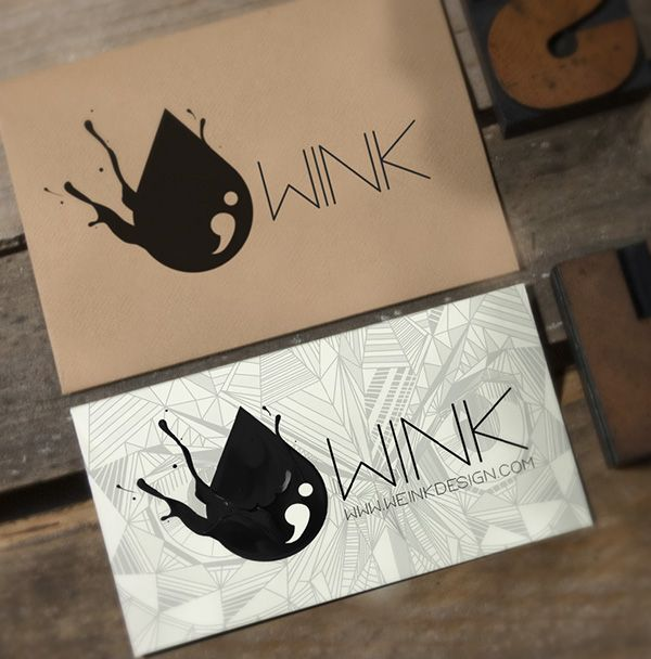 WINK clothing branding #wink #branding #drop #ink