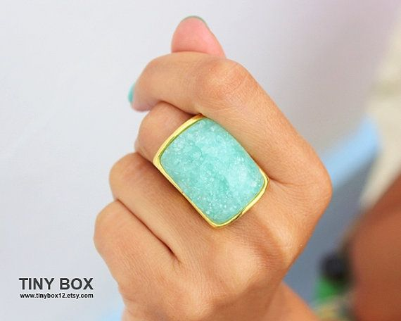 Gorgeous Statement Ring   Stone Ring   Cocktail Ring  by TinyBox12, $14.99