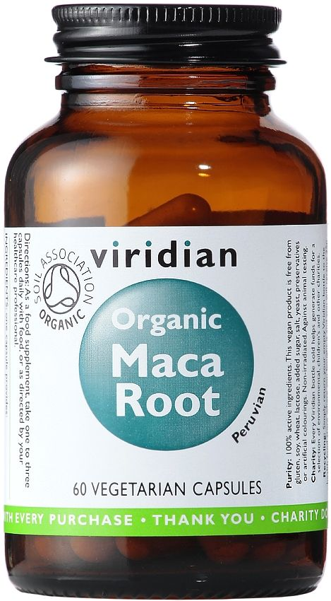 Viridian Organic Maca Root Certified Organic by the Soil Association. Supplements contain significant nutrients to help relieve the symptoms of low #libido, #menopause and may enhance #fertility. Maca sometimes referred to as 'Peruvian Ginseng', is a radish-like root vegetable native to Peru. The maca used in Viridian's organic #maca is known as a 'yellow blend' which incorporates all three known root colours. Vegan.