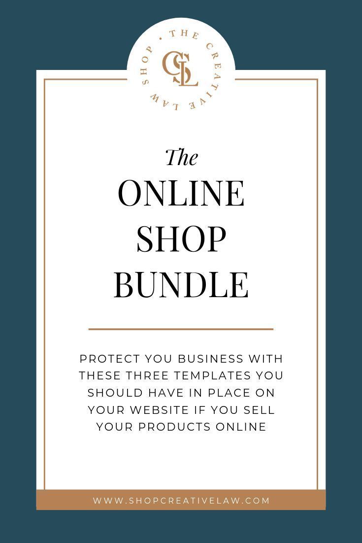 The Online Shop Bundle Contract Template Business Resources Business Tips