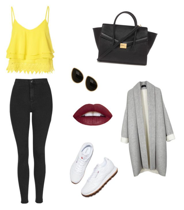 """""""Untitled #1"""" by nolwennbrc on Polyvore featuring Topshop, Reebok, Natasha Accessories, Forever 21, Glamorous, women's clothing, women, female, woman and misses"""