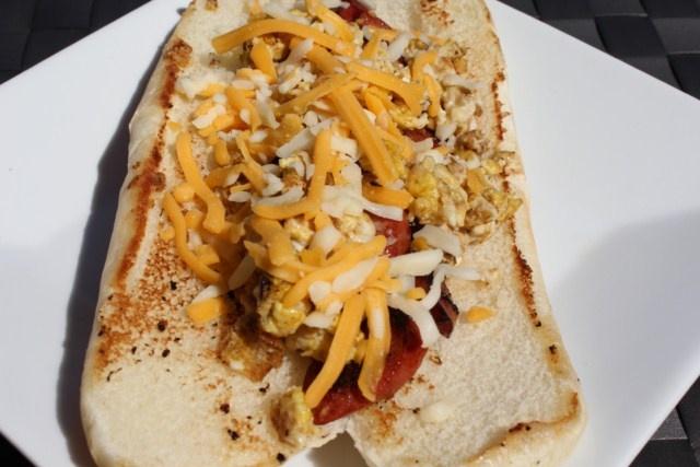 Breakfast Hot Dog Tailgating Recipe | Yum | Pinterest