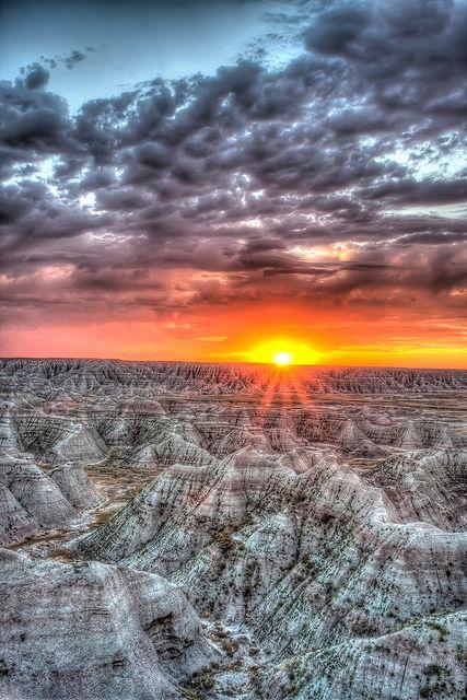 Sunrise at Badlands National Park, South Dakota, by Photomatt28, via Flickr