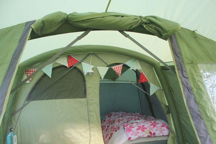 Vango AirBeam Tent - love the bunting :)