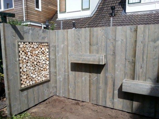 25 beste idee n over pallet hek op pinterest pallet for Decoratie schutting