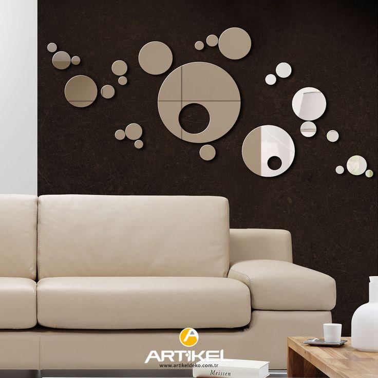 Geometrik şekilli aynalar evinizin modern dekorasyonuna uyum sağlayacaktır... #dekoratifayna #evdekorasyon #kırılmazayna