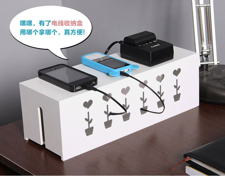 caja para organizar cables flower
