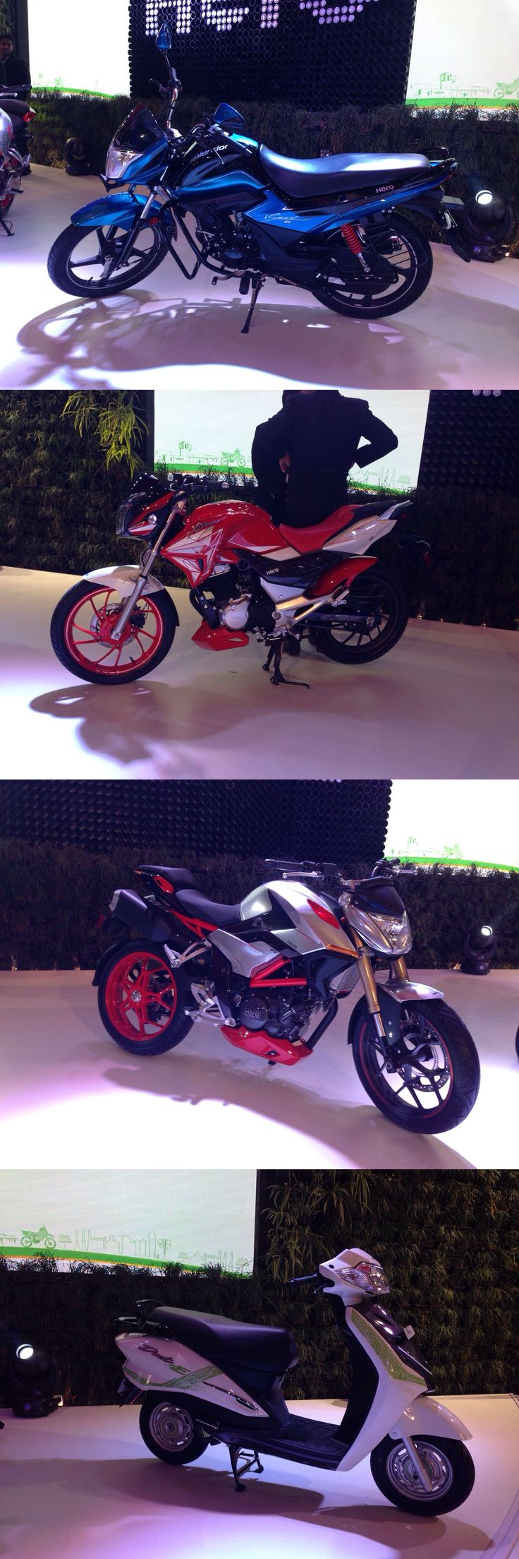 AutoExpo2016 LIVE Updates :- Hero MotoCorp unveils its new 2016 updated line-up for India.  Hero AETMS16