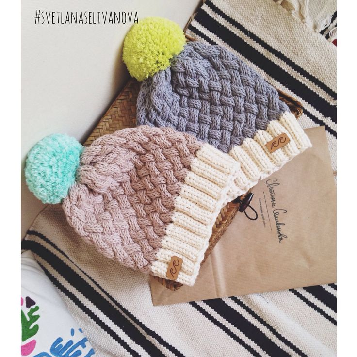Knitted hats from organic cotton