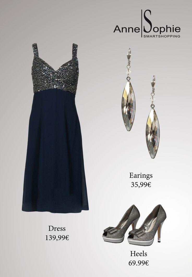 Dark blue dress with sparkles