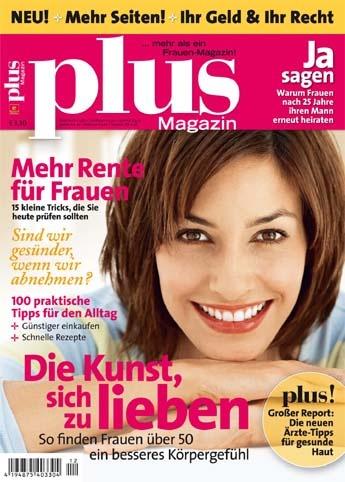 """""""plus-Magazin"""" ist die Zeitschrift für Damen ab 50plus. """"plus-Magazin"""" erscheint monatlich berichtet zu den Themen #Recht und #Finanzen, #Gesundheit, #Fitness, #Partnerschaft, #Politik, #Küche, #Garten, #Mode, #Kosmetik, #Reisen und #Kultur. interessiert. Bestellung unter http://www.easyabo.de/zeitschriften/48754:Plus-abo Preis im #Geschenkabo: € 36.00"""