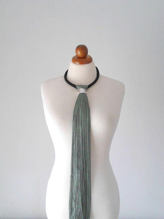 Elegant Necklace Elegant Jewelry Long Tassel Necklace by PlexisArt