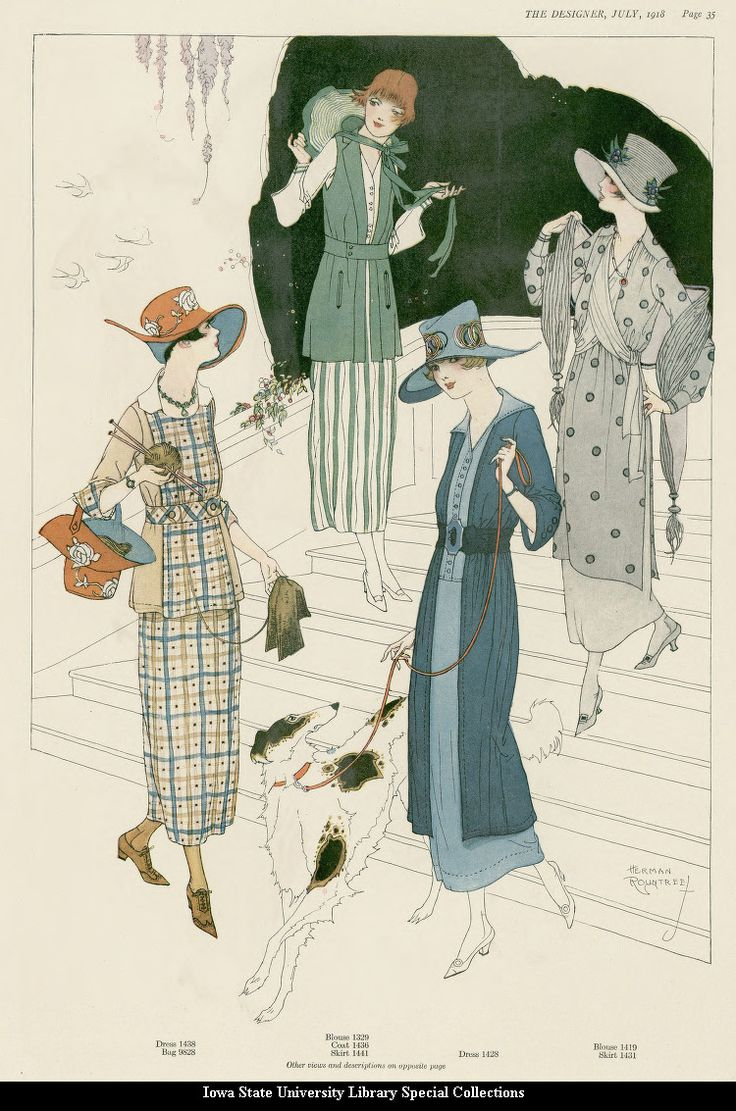 Fashion 1910 To 1920 - July fashion plate in the designer