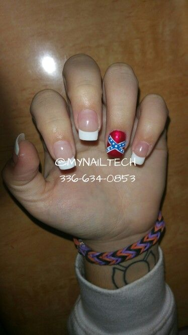Rebel flag design. Rebel flag on nails