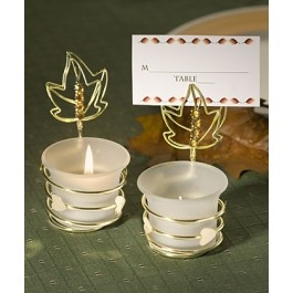 Autumn Inspired Place Card Holder Candle Favors