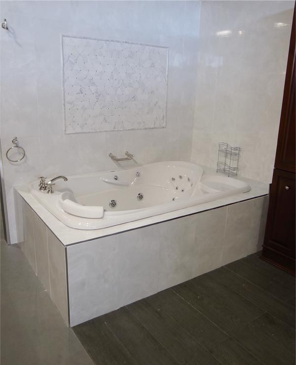 Bathtub maax two person whirlpool drop in tub wall tiles for Drop in tub sizes