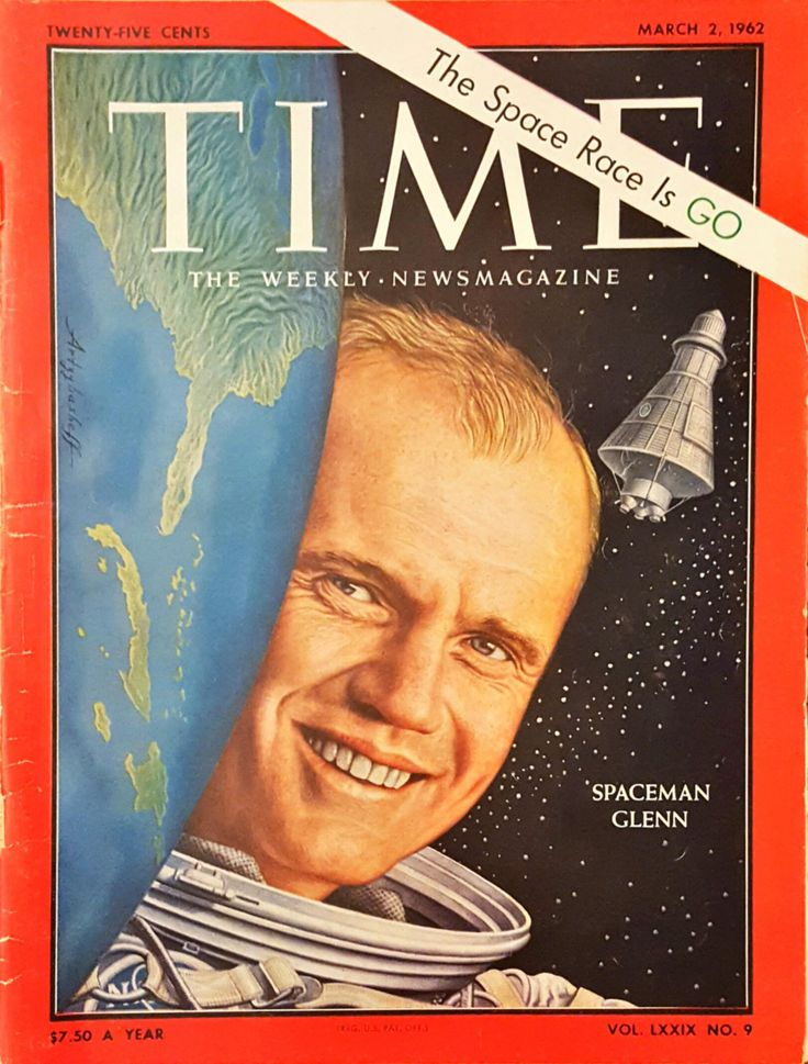 TIME Magazine from March 2, 1962 with John Glenn on the cover by CnWsTexasTreasures on Etsy