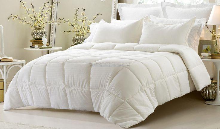 Queen 3PC Oversize Reversible Comforter Set Solid Emboss Striped Shams Bedding http://www.ebay.com/itm/-/262492983638?