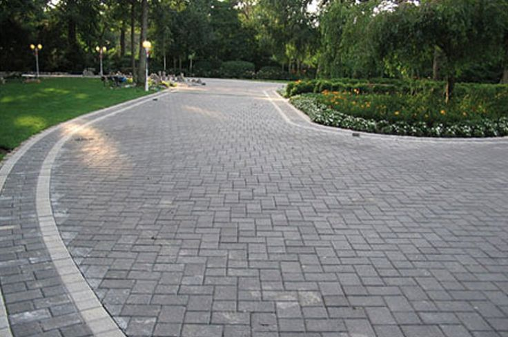 Cambridge Pavers Driveway Created With 6x9 Onyx Pavers And
