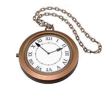 large plastic pocket clock in