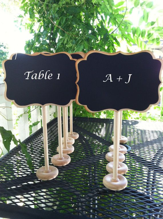 Small Chalkboard Signs for Weddings, Wedding Table Numbers ...
