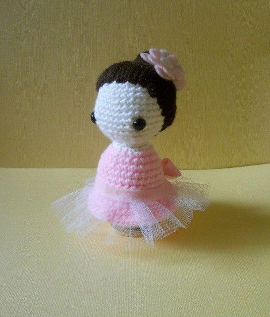 Crochet Doll Ballerina Dancer  Amigurumi with by MissDolkapots, $20.00