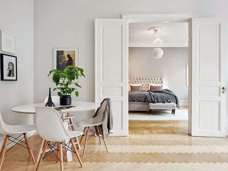The design chaser homes to inspire cosy in sweden for Scandinavian style doors