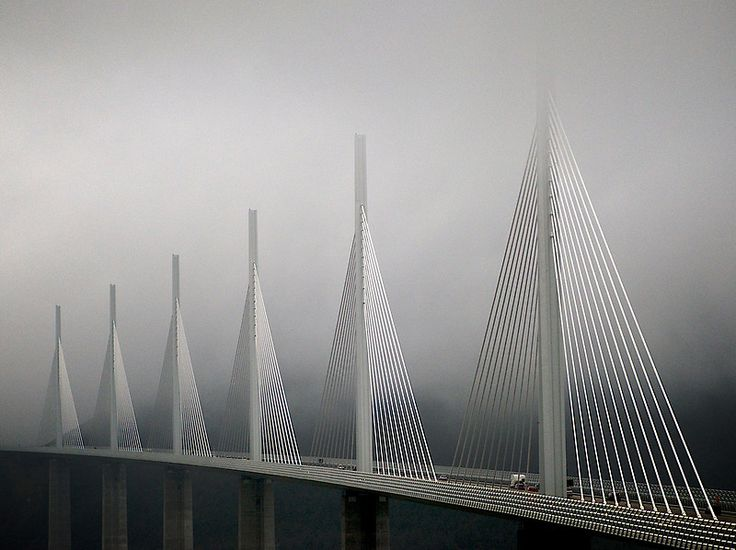Sir Norman Foster's Viaduct du Millau in Millau France
