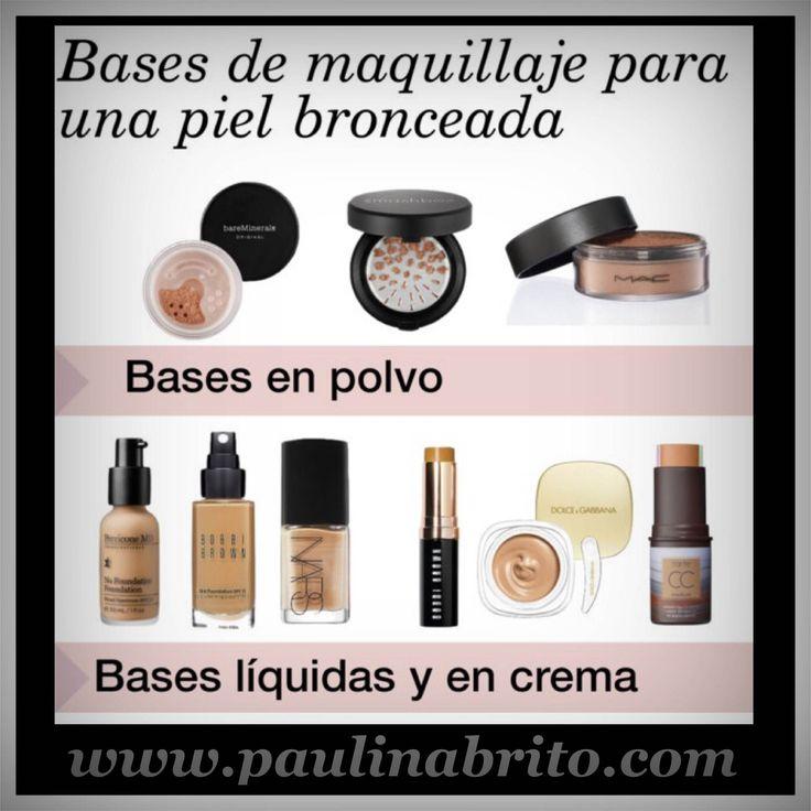 Base de maquillaje ideal para una piel bronceada