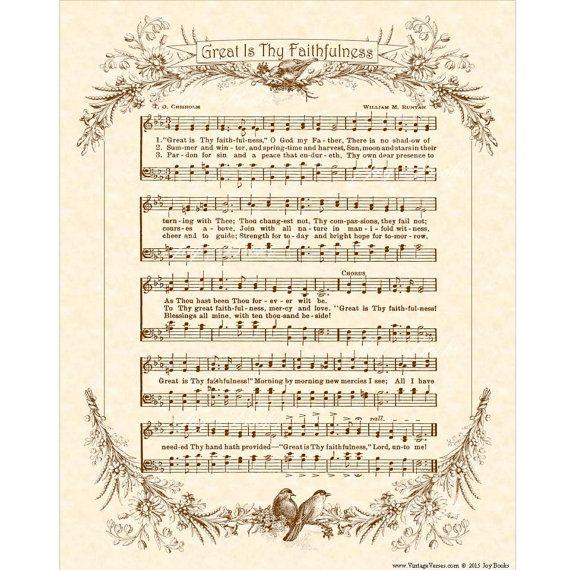 great is thy faithfulness piano sheet music pdf