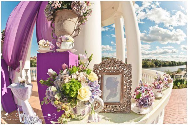 свадьба во французском стиле #wedding #purple #decor