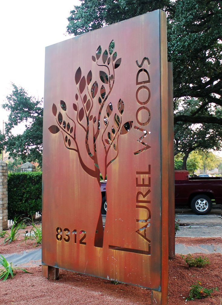 Check out this custom sign we fabricated for Laurel Woods Apartments. This was a specialty sign we designed. #CNDSigns #Signs