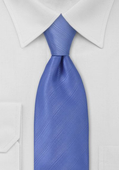 Periwinkle blue tie. Crisp and clean.