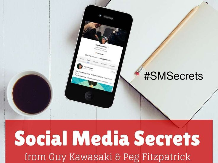 Social Media Secrets by Guy Kawasaki. Social media tips that will rock your social! Links for more information on HOW to do each of these tips below. Secrets for Twitter, Facebook, Instagram, LinkedIn, YouTube, Pinterest, and Google+. #SMSecrets