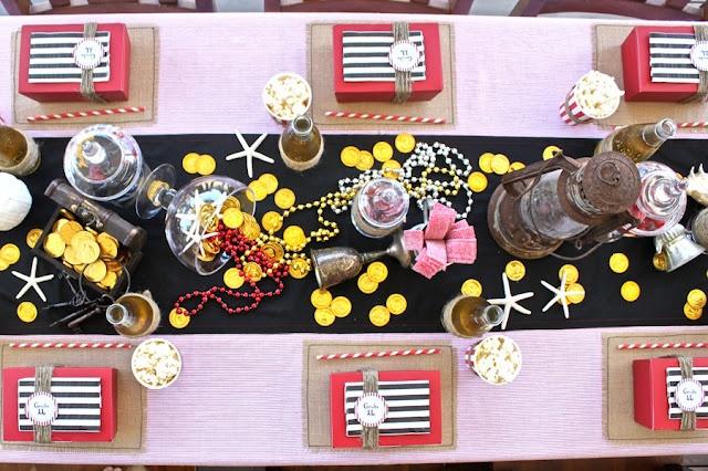 pirate partyCaptain Hooks, Birthday Parties, Pirates Parties, Hooks Pirates, Parties Ideas, Parties Tables, Party Tables, Tables Decor, Party Ideas
