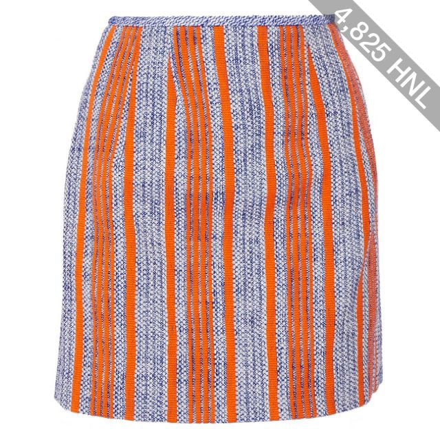 Carven - Striped Cotton-tweed Mini Skirt