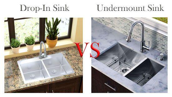 Drop In Sink Vs Undermount Sink Drop In Sink Undermount Sink Drop In Kitchen Sink