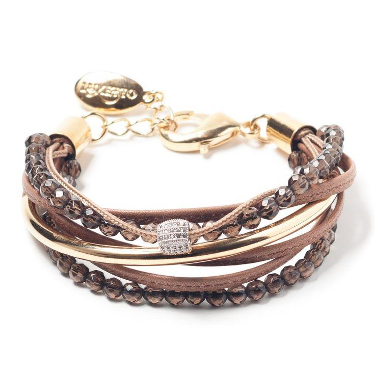 Bracelet Carli brun par Luxetto http://luxetto.com/collections/bracelets/products/carli-brun