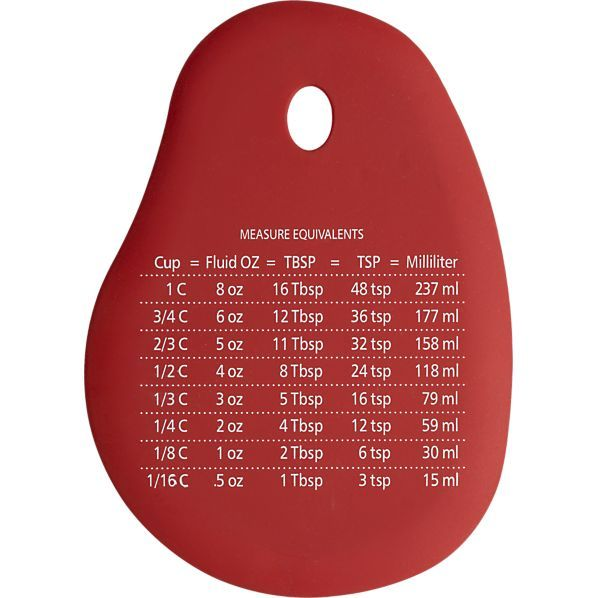 Silicone Scraper with Measurements in Baking Utensils | Crate and Barrel