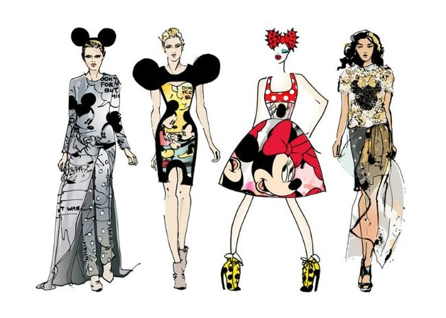 Minnie Mouse fashion designs