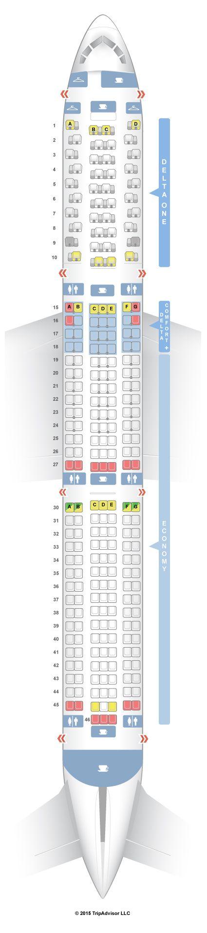 SeatGuru Seat Map Delta Boeing 767-400ER (76D)