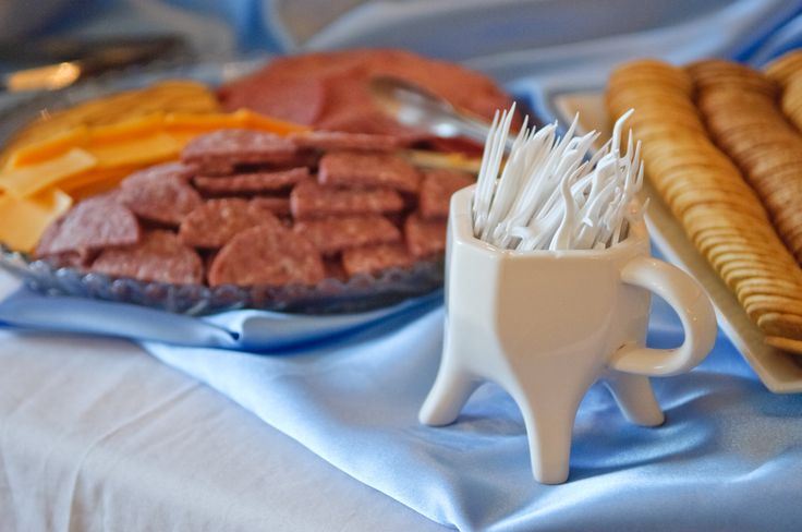 Clove Dental decorated the buffet table with a tooth shaped container filled with dental floss picks!  Great for picking up appetizers at the Hygienist Retirement Party!