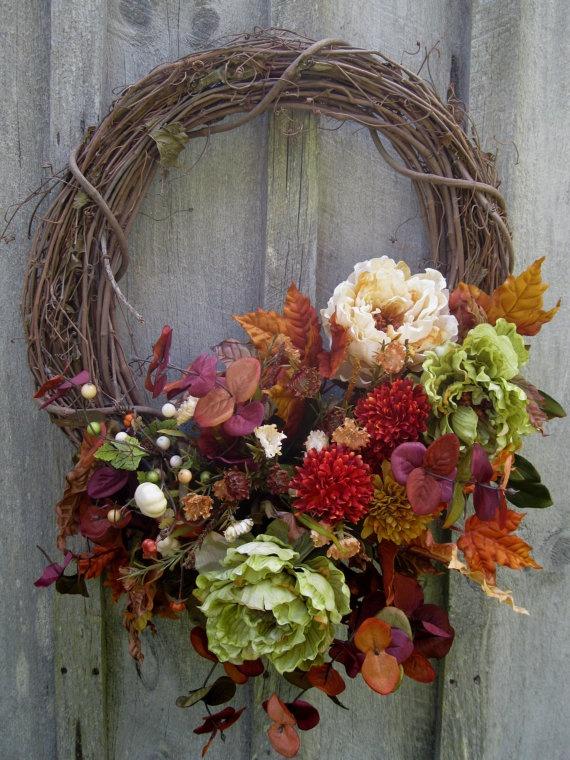 Tuscany Garden Wreath by procelebrations on Etsy, $69.00