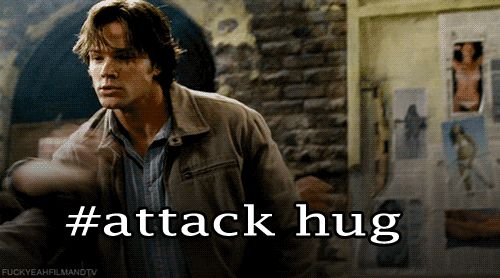 Supernatural Sam attack hug