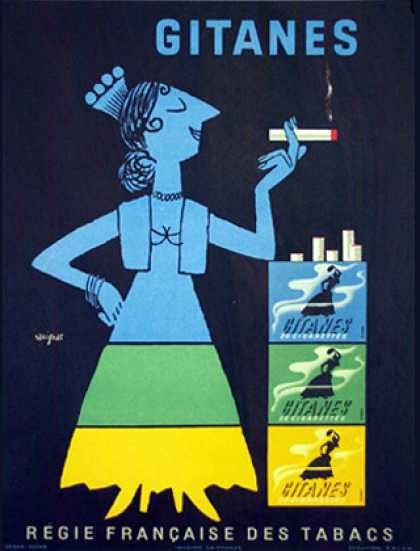 "PG399 ""Gitanes"" Poster by Raymond Savignac (1953)"