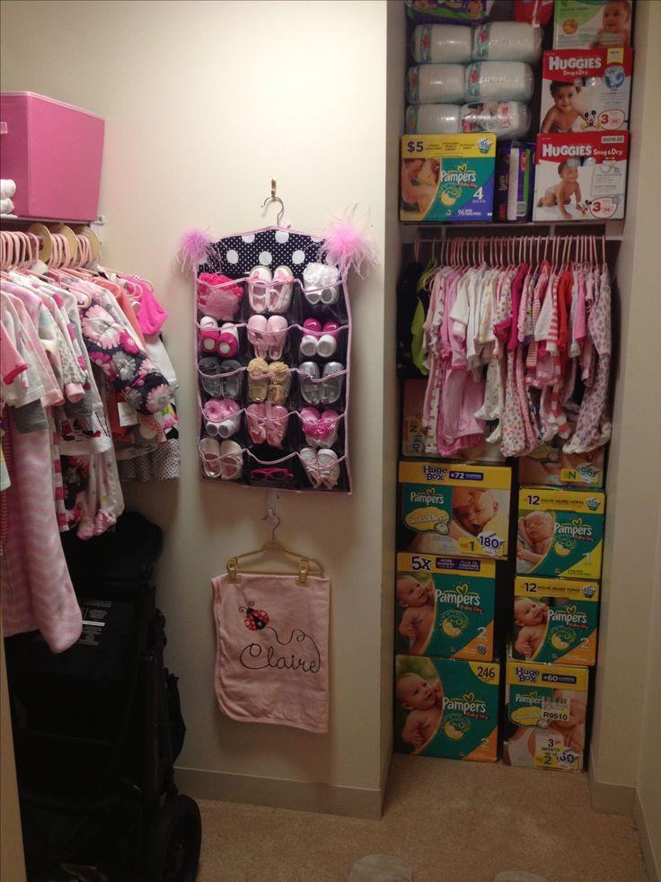 Nursery closet  @Alanna Tameta Heaney now thats stocked up!