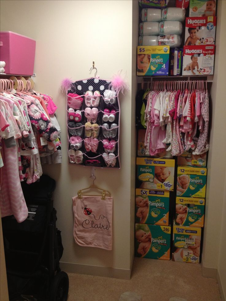 Nursery closet  @Alanna Tameta Heaney now thats stocked up!