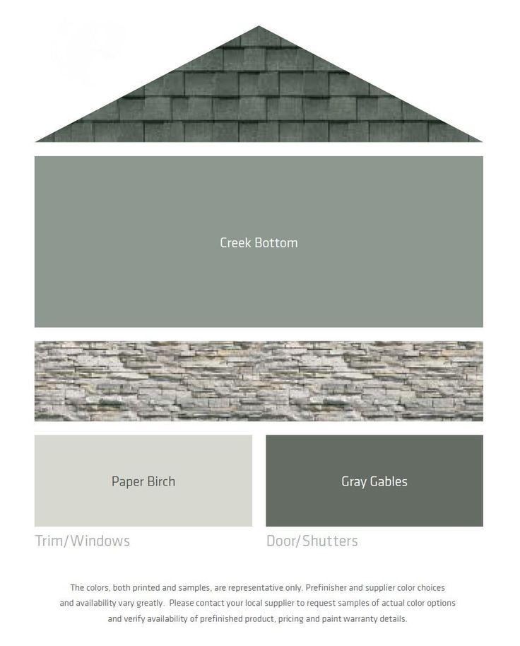 Exterior colors with grey or black roof